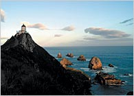 Historic lighthouse at Nugget Point